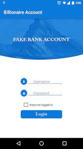 Billionaire Fake Bank Account Pro