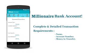 Millionaire Fake Bank Account